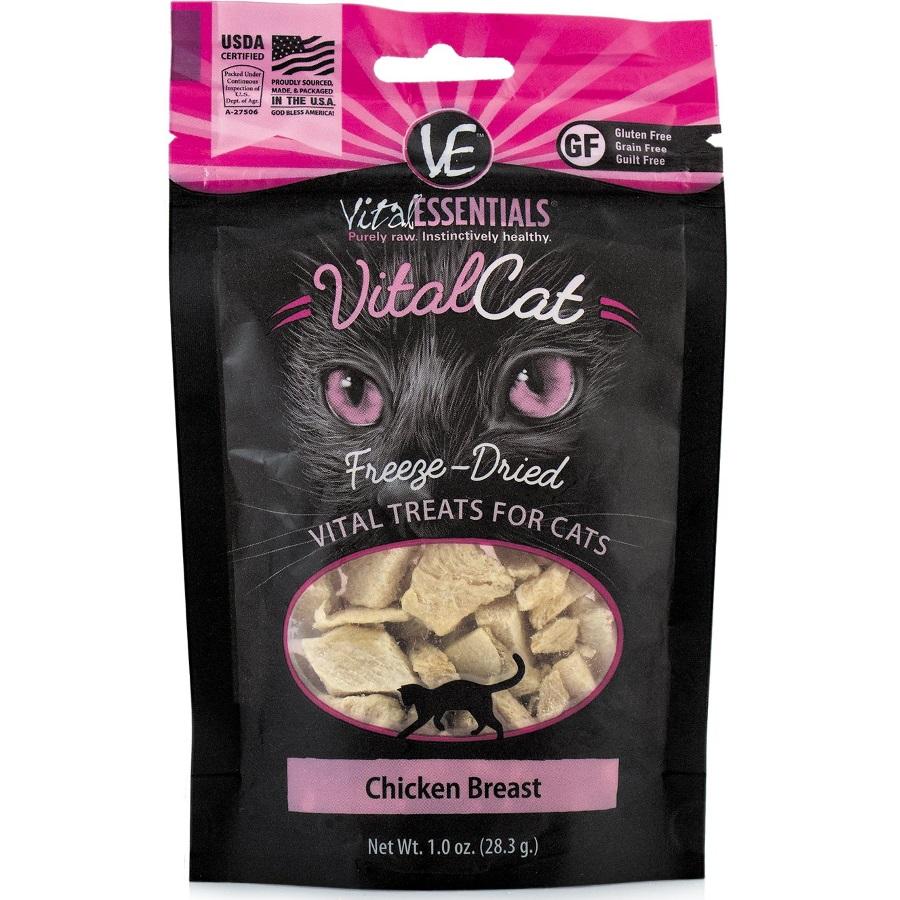 Vital Essentials FREEZE DRIED RAW Vital Cat Chicken Breast Cat Treats 1oz
