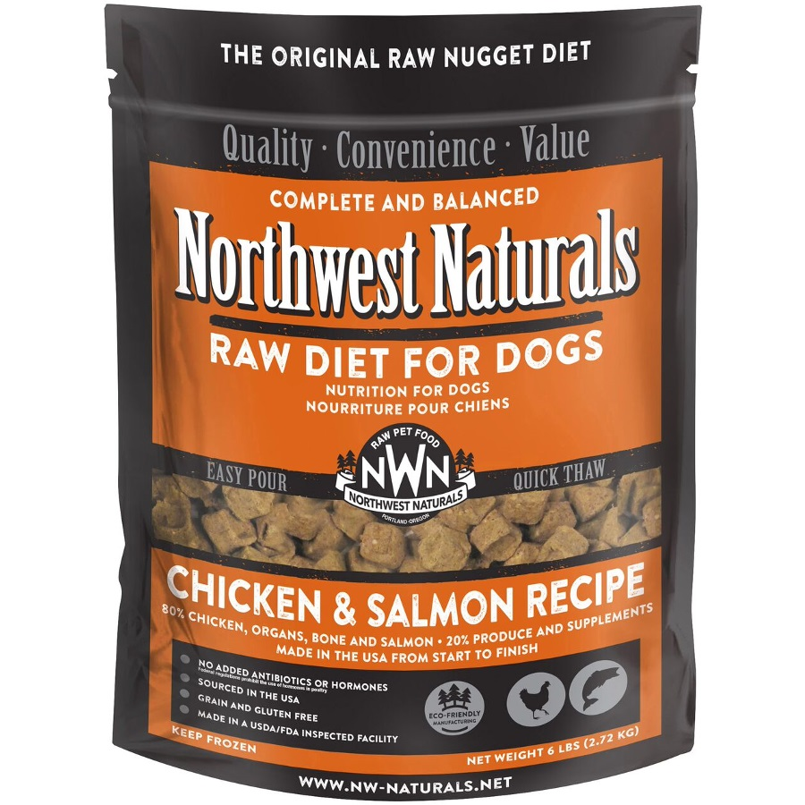 Northwest Naturals Raw Diet Grain-Free Chicken & Salmon Nuggets Raw Frozen Dog Food 6lbs