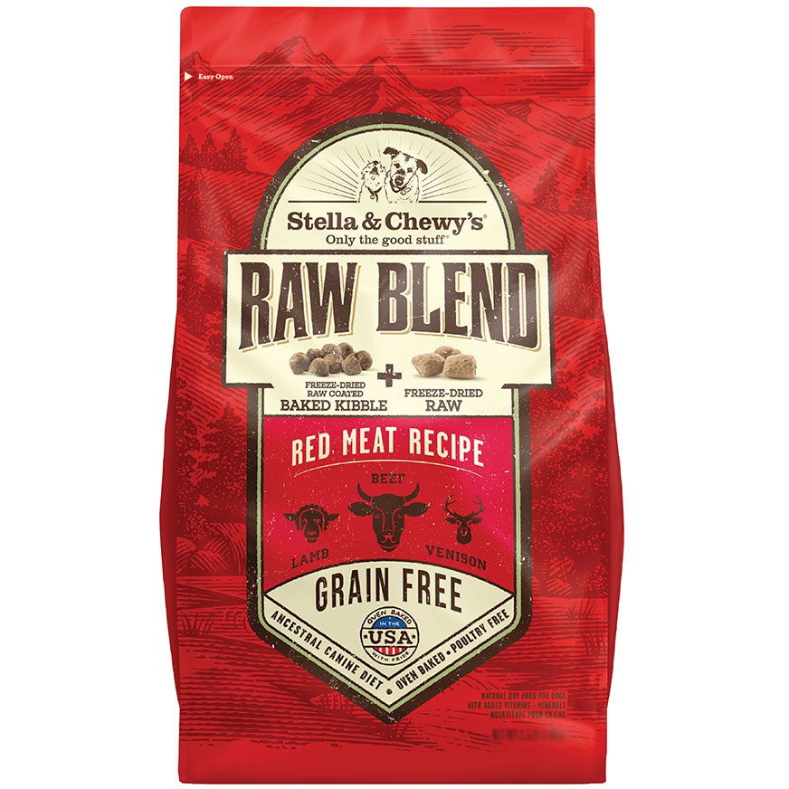 Stella & Chewy's Raw Blend Red Meat Recipe - Freeze-Dried Raw + Dry Dog Food 22lbs