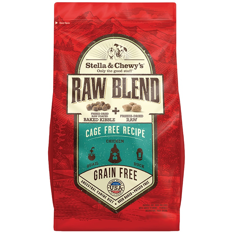 Stella & Chewy's Raw Blend Cage Free Recipe - Freeze-Dried Raw + Dry Dog Food 10lbs