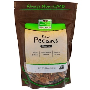 PECANS, RAW UNSALTED 12oz