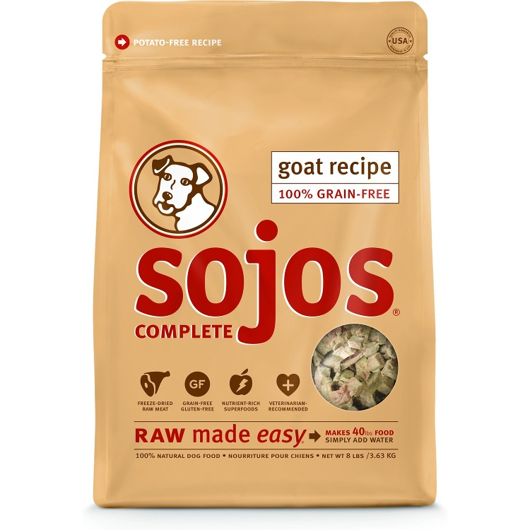 Sojos Complete Goat FREEZE DRIED Raw Grain Free Adult Dog Food 7lbs