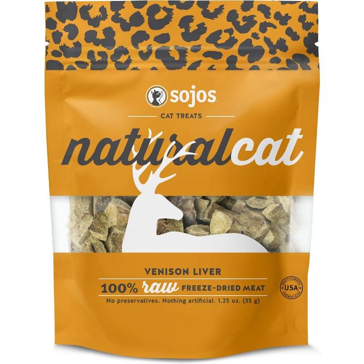 Sojos Naturalcat Venison Liver FREEZE DRIED Raw Cat Treats 1.25oz