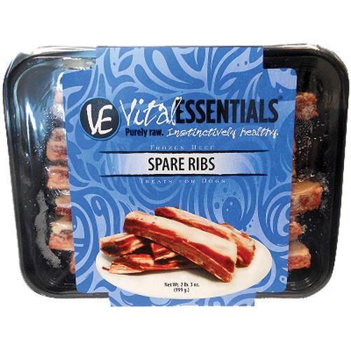 Vital Essentials FROZEN RAW Beef Spare Ribs Dog Treats 2lbs