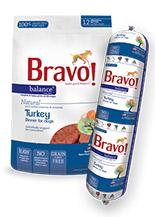 Bravo Balance Turkey Chub Roll Raw Frozen Dog Food 5lbs