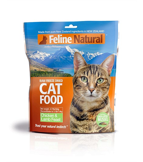 Feline Natural Chicken and Lamb Raw Freeze Dried Cat Food 0.77lbs