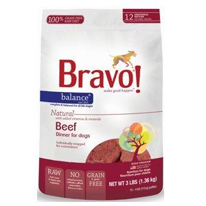 Bravo Balance 4z Beef Patties Raw Frozen Dog Food 3lbs