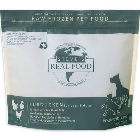 Steve's Real Food FROZEN RAW Turducken Recipe Nuggets For Dogs & Cats 5lbs